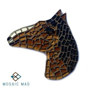 Mosaic DIY Project - HORSE BROWN & BLACK, R49.00