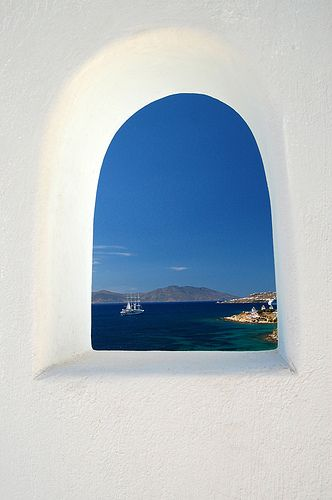 Terrace detail, Mykonos , Greece