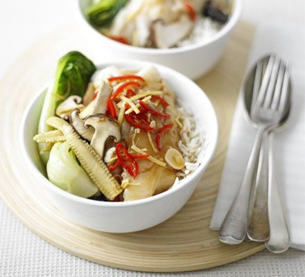 Ready in minutes, this healthy steamed fish makes a light and lovely meal for two