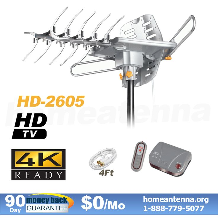 Top Rated 4K Pre-amplified Outdoor TV Antenna with motor rotor on SALE