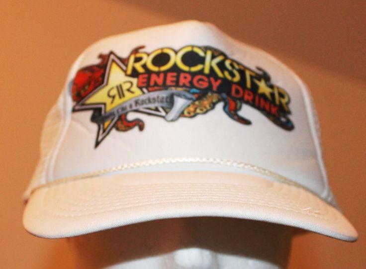 Vtg Rockstar Energy Drink Snap Back Ball Cap Hat Foam and Mesh Nissun Brand #Nissun #BaseballCap