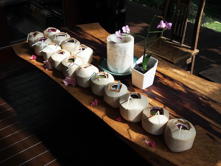 Dragon fruit, passionfruit and Moringa coconuts for the OM Cleanse Retreat Byron Bay Australia