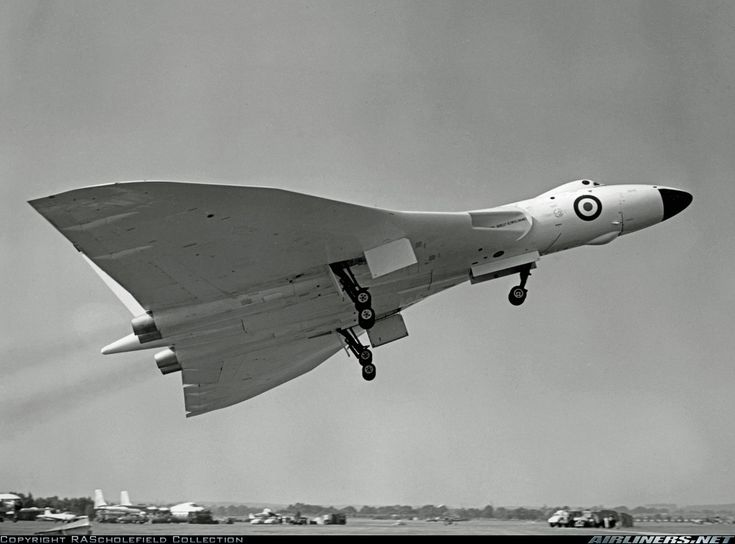 Operated by BSE as a flying test bed for the Bristol Olympus engine. Seen taking off from Farnborough to give its public display. Obtained from BSE 50 years ago. - Photo taken at Farnborough (FAB / EGLF) in England, United Kingdom in September, 1959.