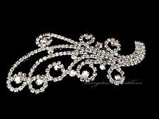 Glamorous  Flower alloy with Rhinestone and Wedding Bridal Comb