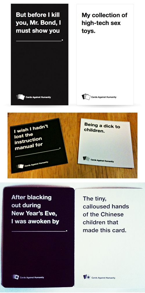 Cards Against Humanity : Making it's debut this weekend @Christina & Lopez…