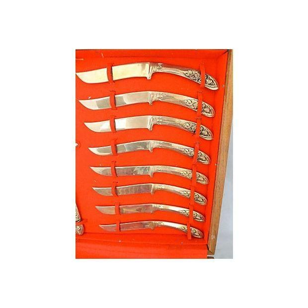Image of Midcentury Asian Flatware Set with Box