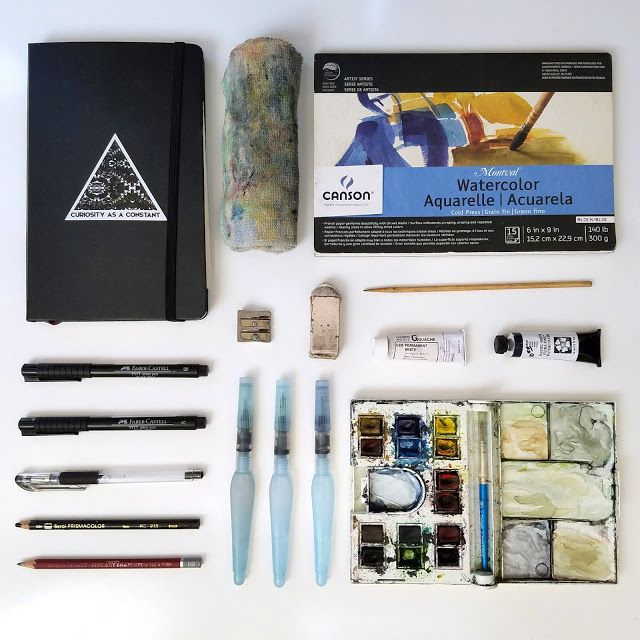 Outdoor Watercolor Field Kit Explained All The Tools And Supplies