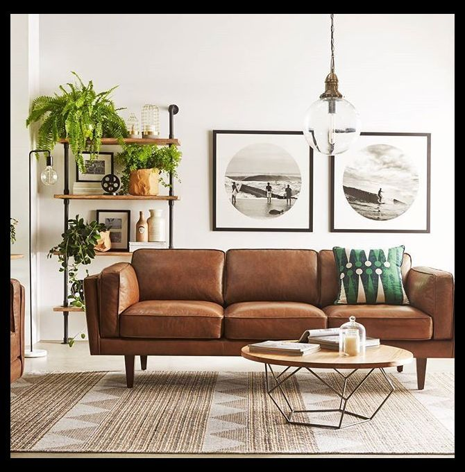 10 Beautiful Brown Leather Sofas Sofa Set Designs For Small Living Room Minimalist Living Living Room Colors Living Room Decor Brown Living Room