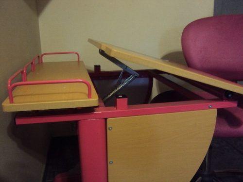 conjunto de mesa para desenho e cadeira sw-7605 pink