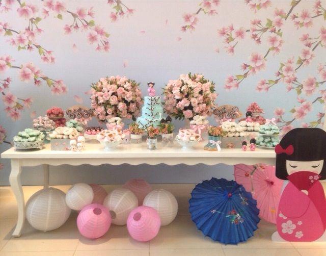 Festa infantil tema Kokeshi