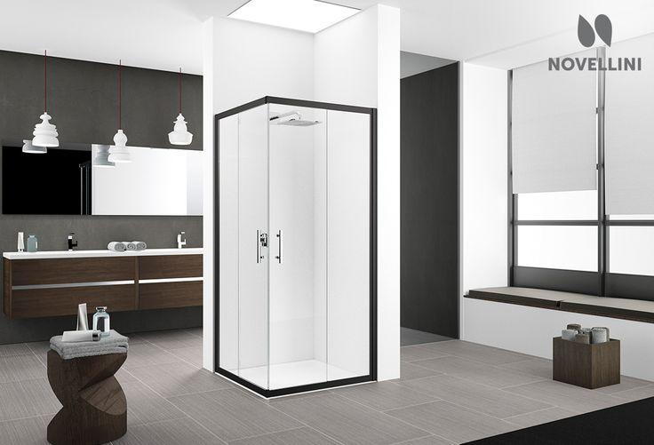 Afbeeldingsresultaat voor zwart douche scherm