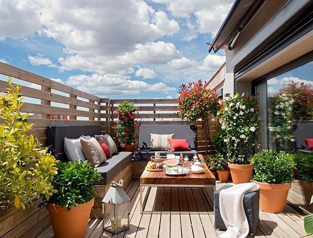 991 best terrazas con palets images on pinterest diy - Decoracion de patios y terrazas ...