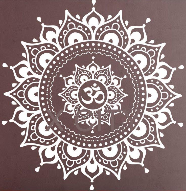 Купить Мандала шаблон на стены виниловые наклейки йога лотоса медитация домашнего декора росписи черный белый 80 цветаи другие товары категории Наклейки на стенув магазине X City Stickers DecalнаAliExpress. клей украшения murale и фреска воды