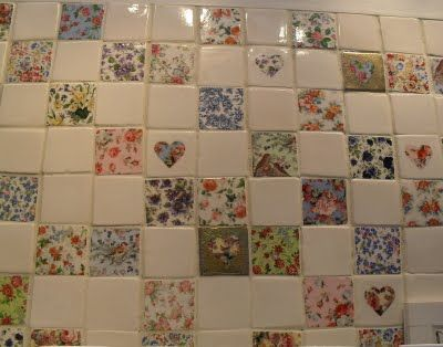 Shabby Chic Patchwork tiles - how cute!