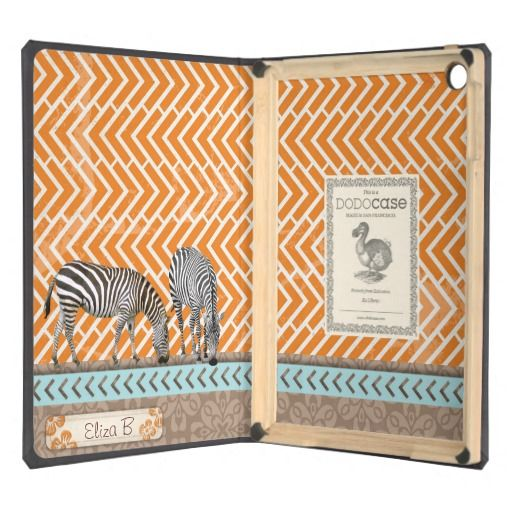 Designed to protect your iPad Air and preserve the craft of bookbinding, the DODOcase gives your digital device the timeless look of a hardcover book while providing security and protection.  #DODO #  #Africa #zebra #DODOcase #iPadAir