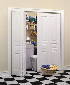 Avalon Bi-Fold Closet Doors traditional laundry room