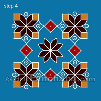This page provides Dot Rangoli Designs with title Dot Rangoli 25 for Hindu festivals.