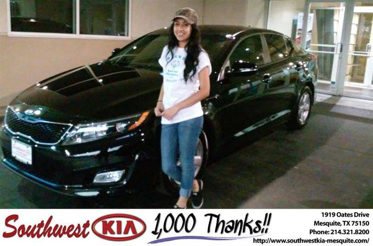 https://flic.kr/p/FQ1yG6 | Happy Anniversary to Marcela on your #Kia #Optima from Mike Stanton at Southwest Kia Mesquite! | deliverymaxx.com/DealerReviews.aspx?DealerCode=VNDX
