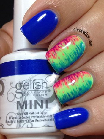 Chickettes.com Nail Art using the Gelish Colors of Paradise Collection