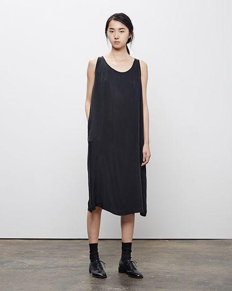 La Garçonne Moderne / Reader Dress, Worn with: Maria La Rosa / Mid-Calf Silks Socks, Rochas / Heeled Oxford #fw14