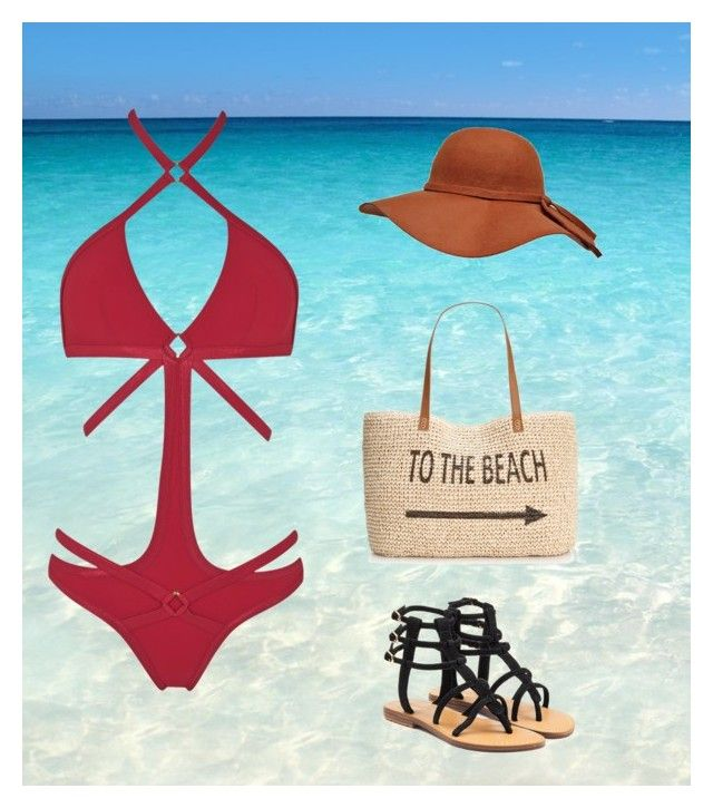 """""""to the beach"""" by bowemr ❤ liked on Polyvore featuring Agent Provocateur, Mystique and Style & Co."""