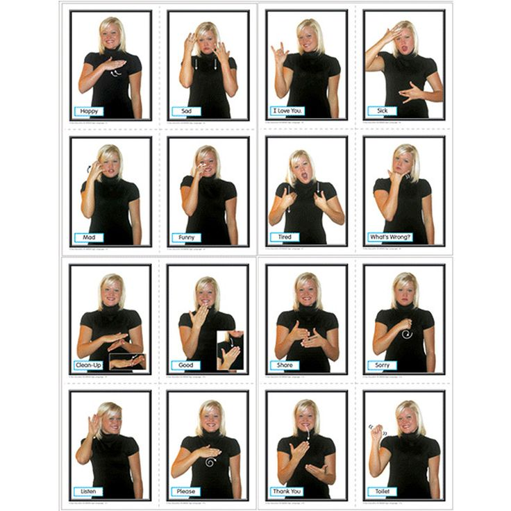 American Sign Language SparkNotes Study Cards Cards ...