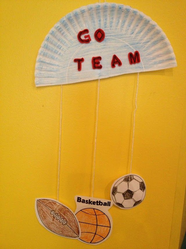 21 best preschool sports crafts images on pinterest for Football crafts for preschoolers