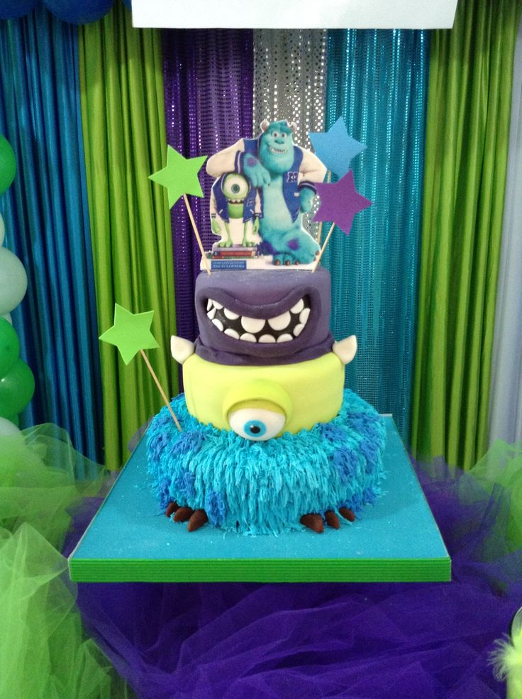 Monster inc cake. Torta Monster inc. | Mis Creaciones ...