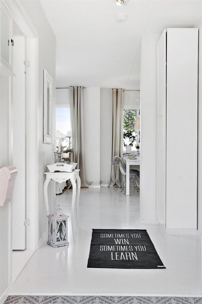 Mieszkanie skąpane w bieli | Bajkowe Wnętrza