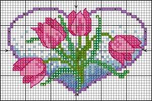 BLOG  flower hearts - tulips colour chart