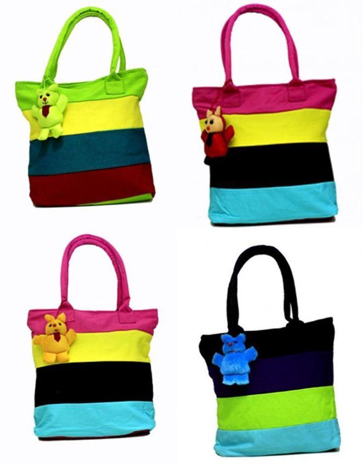 10 Indian Cotton Canvas Multi Color Ethnic Boho Hippie Shoulder Wholesale Bags #Handmade #ShoulderBag