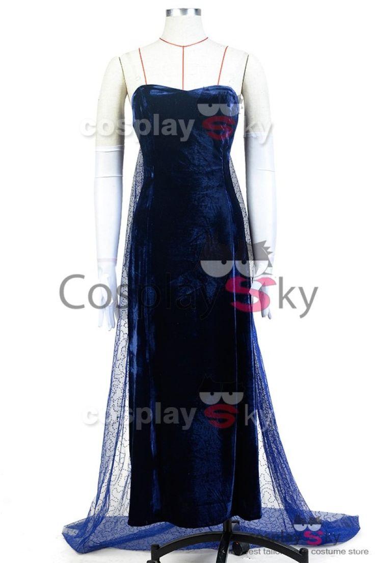 Anastasia (1997 film) Romanov Ball-gown Blue Cosplay Costume_5