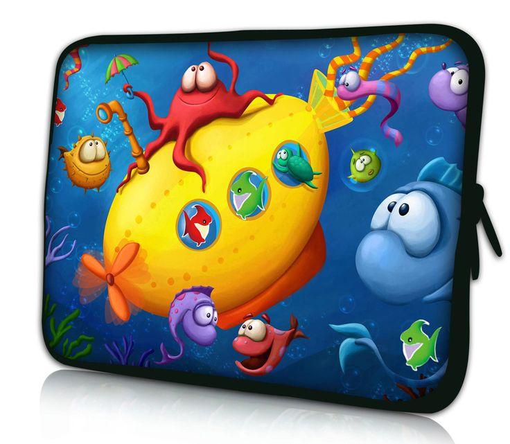 Красочные Рыбы 11.6 12 Laptop Sleeve Сумка Чехол Для HP Dell Acer Thinkpad Sony ASUS