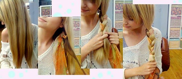 Braided Scarf Tutorial - I don't like the way she did it very much for me, but it gave me a really cute idea!