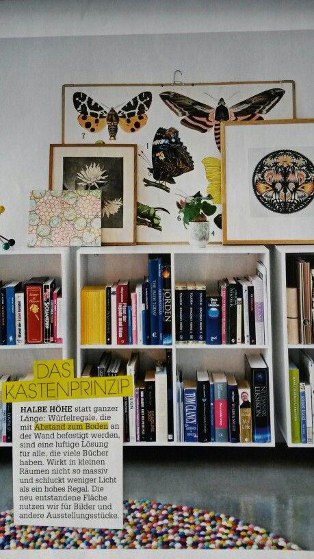 Bücherregal gemalt  Die besten 25+ niedriges Bücherregal Ideen auf Pinterest ...