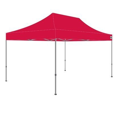 180' Monster Shelter in Red by Caravan Canopy. $1221.24. 21503805030 Features: -Shelter.-Made of industrial grade powder coated aluminum and brackets.-With straight leg and pull pin slider.-Pull pin height adjuster.-Carry bag.-Full truss design for added stability. Color/Finish: -Color: Red. Dimensions: -Dimensions: 132'' H x 180'' W x 120'' D. Warranty: -10 Year warranty.