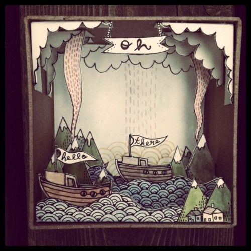 Charming Paper Cut Out Diorama :: Oh Hello There