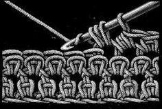 Enciclopedia puntos crochet- FIG. 423. KNOT STITCH.