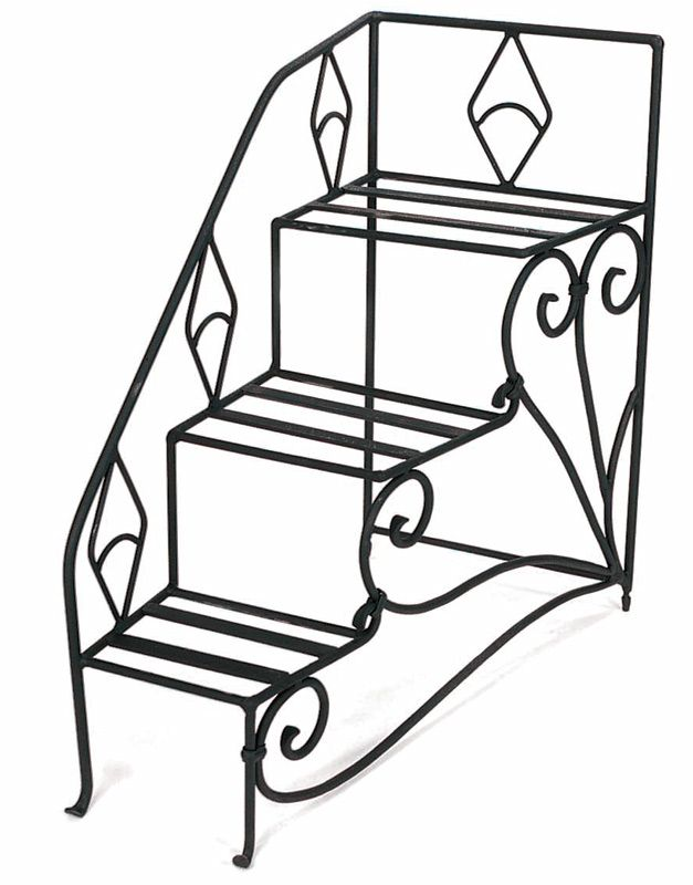 Step Stool Planter, Tiered Wrought Iron