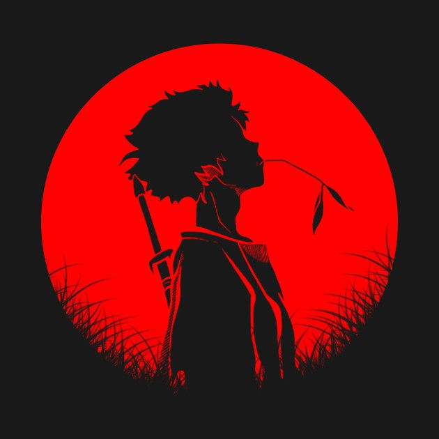 Check Out This Awesome Style Of Mugen Silhouette Design On Teepublic Anime Shadow Samurai Art Samurai Champloo