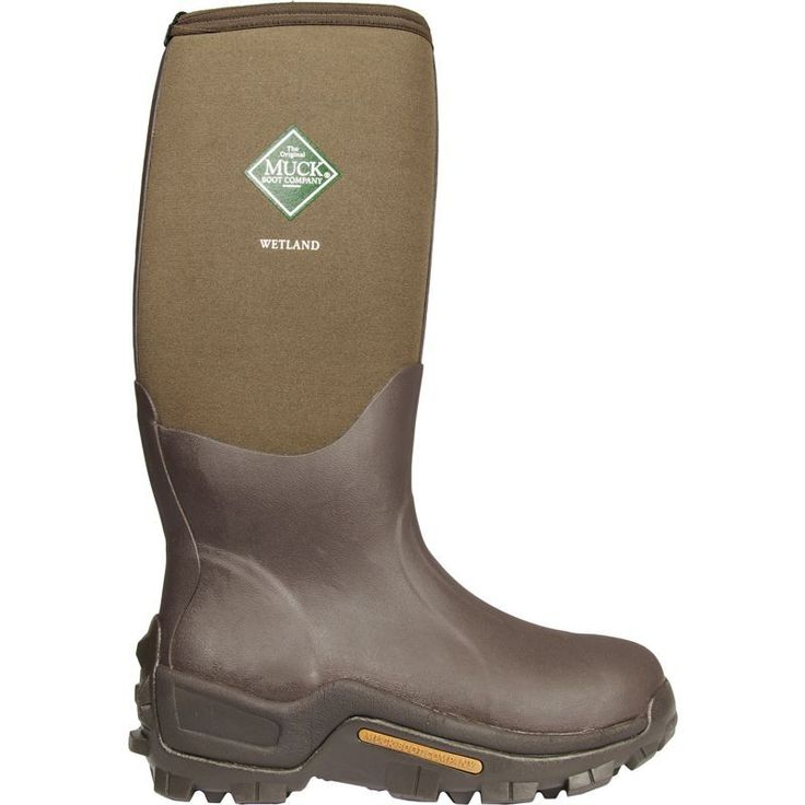 Muck Boot Company Men's Wetland Rubber Hunting Boots, Size: 13, Brown