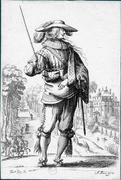 Abraham Bosse d'après Jean de Saint-Igny (v. 1597-1647)  Le Jardin de la noblesse française, 1629: Le Saint-Esprit