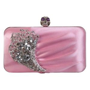 This small baby #pink #clutch #bag has a large striking diamante brooch on the front with a purple-eyed skull on top - See more at: http://myeveningdress.co.uk/clutch-bags/1447-pale-pink-diamante-skull-evening-handbag.html#sthash.GlKXVmRM.dpuf