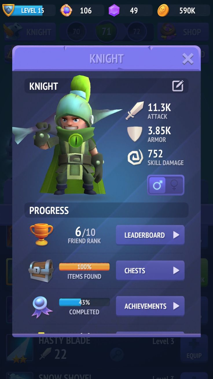 Nonstop Knight: The drawing style, lines and shading seems good. Their style is too magical, items are inconsistently sometimes too bright, sometimes too dark and too colorful, this style of glow won't fit us at all. Also their UI menus seem very good, just changing the color of their menus or tracing on top of some of their items might work in our game.