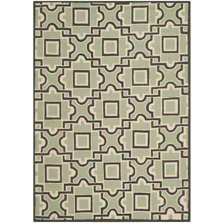 Safavieh Indoor/ Outdoor Four Seasons Spa/ Dark Rug