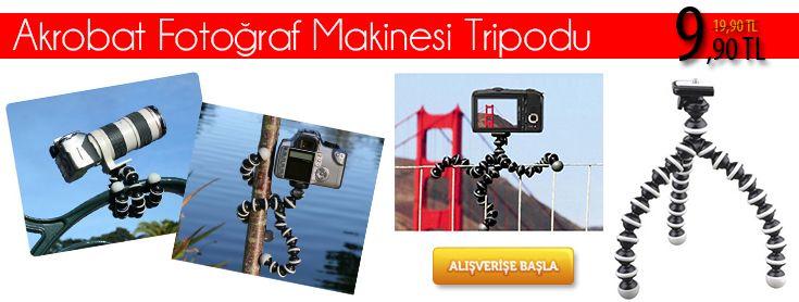 Akrobat Fotoğraf Makinesi Tripodu - 9,90 TL. En Güzel Resimleri En Net Şekilde Hiç Kimseye İhtiyaç Duymadan Çekebilirsiniz... Ürünü İncele >> http://www.sepeteko.com/akrobat-fotograf-makinesi-tripodu