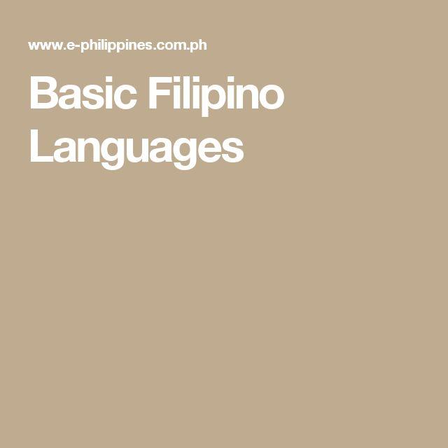 Basic Filipino Languages