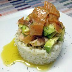 Ensalada nórdica de salmón con salsa de eneldo thermomix