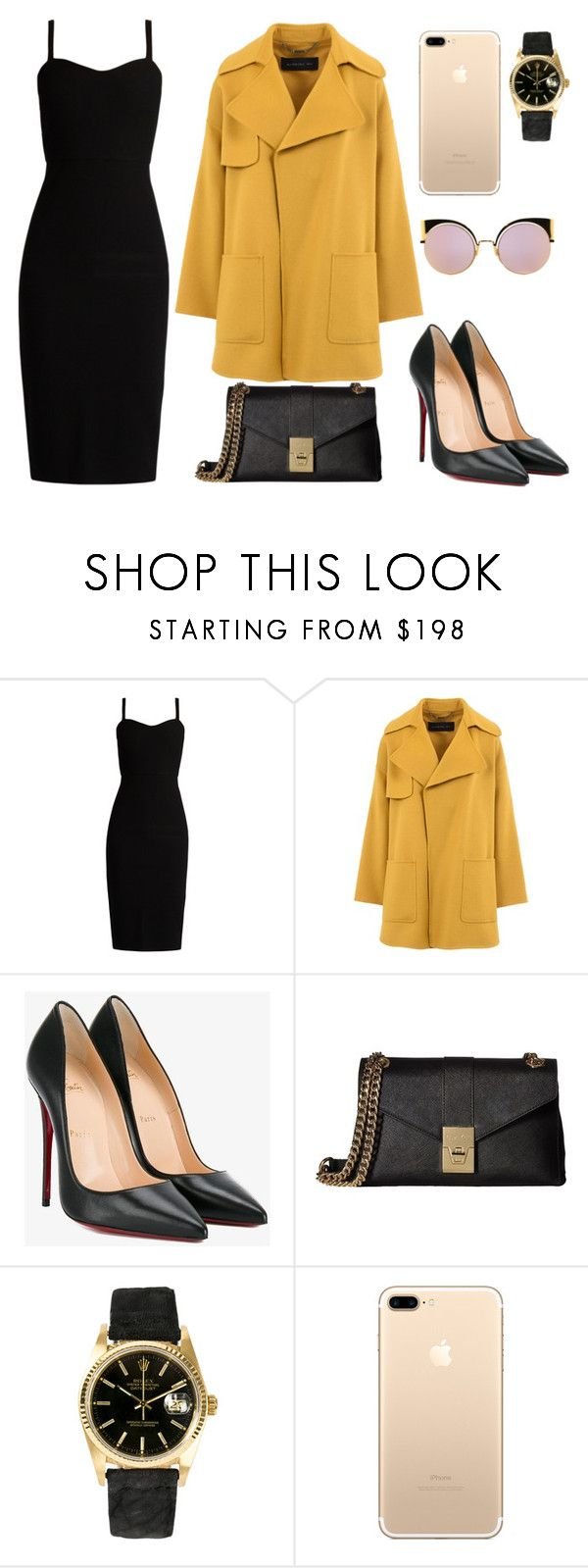 """Untitled #268"" by jovanaaxx on Polyvore featuring MaxMara, Barbara Bui, Christian Louboutin, Calvin Klein, Rolex and Fendi"