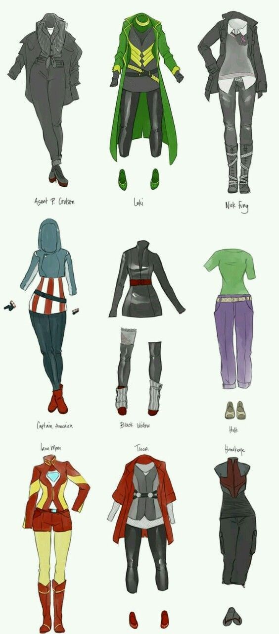 Dispicable Artist — Female Avengers costumes made from real clothing...